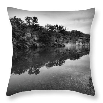 The Blue Hole Throw Pillow by Linda Unger