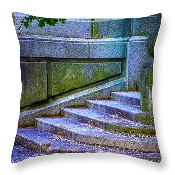 The Blue Stairs Throw Pillow