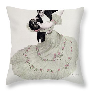The Blue Waltz Throw Pillow