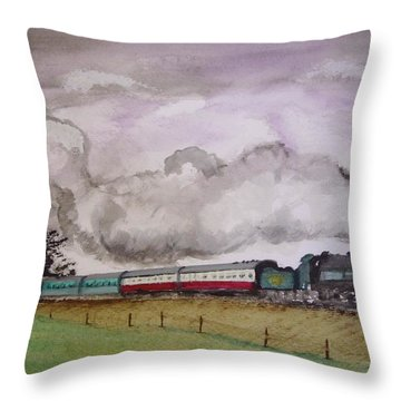 The Bluebell Throw Pillow by Carole Robins