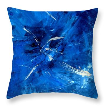 Throw Pillow featuring the painting The Blues by Carolyn Repka