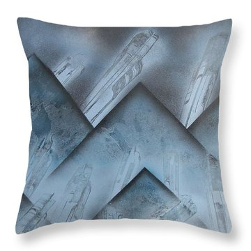 Blue Mountain Way Throw Pillow