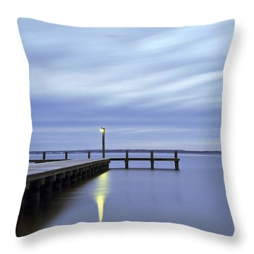 The Blues Lavallette New Jersey Throw Pillow