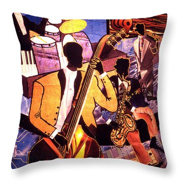 The Blues People Throw Pillow