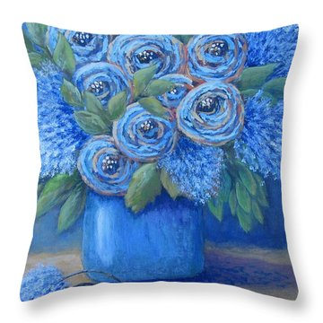 The Blues Throw Pillow by Suzanne Theis