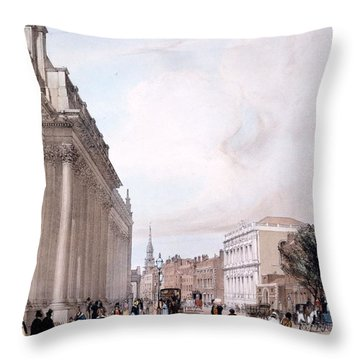 The Board Of Trade, Whitehall Throw Pillow by Thomas Shotter Boys