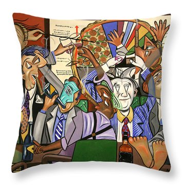 The Board Room Throw Pillow by Anthony Falbo