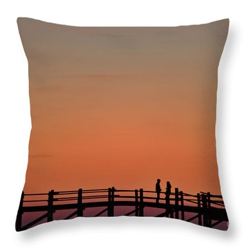 The Boardwalk Throw Pillow by Heiko Koehrer-Wagner