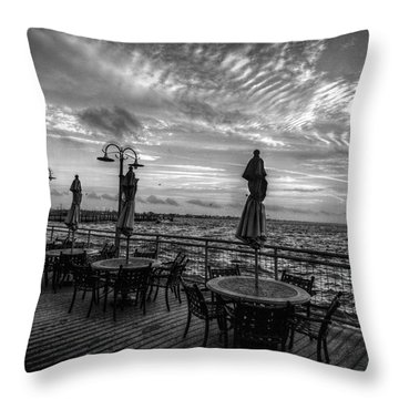 The Boardwalk Throw Pillow