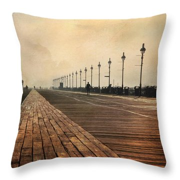 The Boardwalk Throw Pillow by Lori Deiter