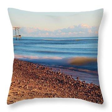 The Boat Hoist Throw Pillow by Patrick Shupert