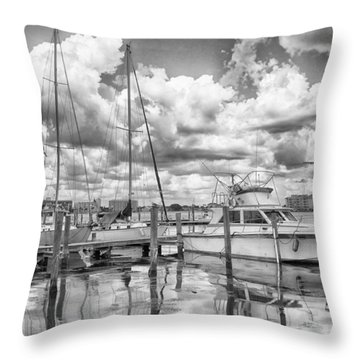Throw Pillow featuring the photograph The Boat by Howard Salmon