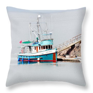 Throw Pillow featuring the photograph The Boat by Jim Thompson