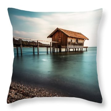 The Boats House II Throw Pillow