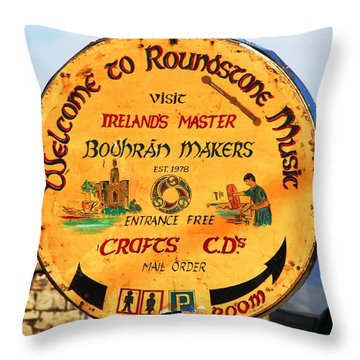 The Bodhran Makers Throw Pillow