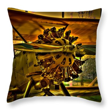The Boeing Model 100 Biplane Throw Pillow