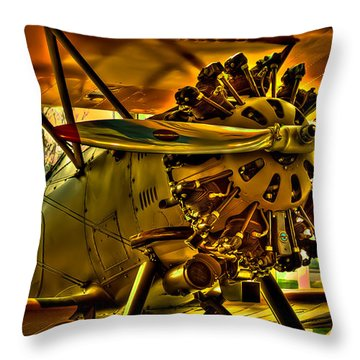 The Boeing Model 100 P-12 Throw Pillow