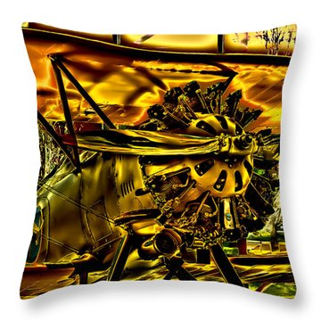 The Boeing Model 100 P-12 F4b Throw Pillow