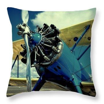 The Boeing Stearman Biplane Throw Pillow