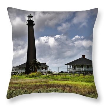 The Bolivar Lighthouse Throw Pillow