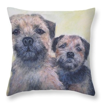 The Border Boys Throw Pillow by Richard James Digance