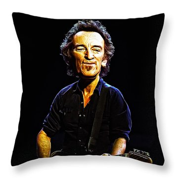 The Boss Throw Pillow by Bill Cannon