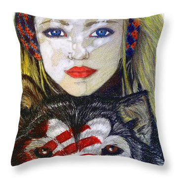 The Bounding Throw Pillow by Justin Moore