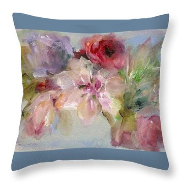 The Bouquet Throw Pillow