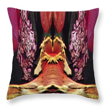 The Bouquet Unleashed 40 Throw Pillow by Tim Allen