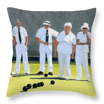 The Bowling Party Throw Pillow