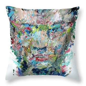 The Boxer Throw Pillow by Fabrizio Cassetta