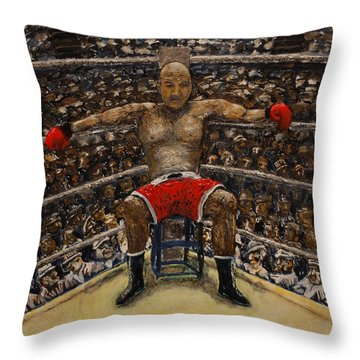 The Boxer Throw Pillow by Richard Wandell