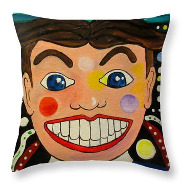 The Boy Of Wonder Throw Pillow by Patricia Arroyo
