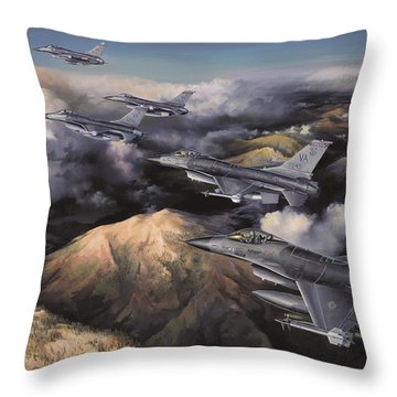The Boys From Richmond Throw Pillow by Randy Green
