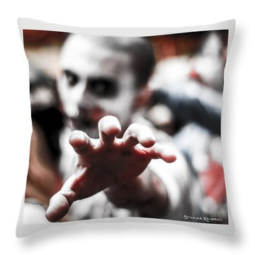 Throw Pillow featuring the photograph The Brain Snatcher by Stwayne Keubrick