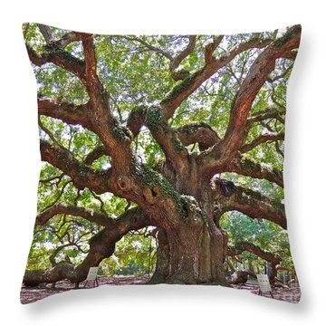 The Branches Of Life Throw Pillow