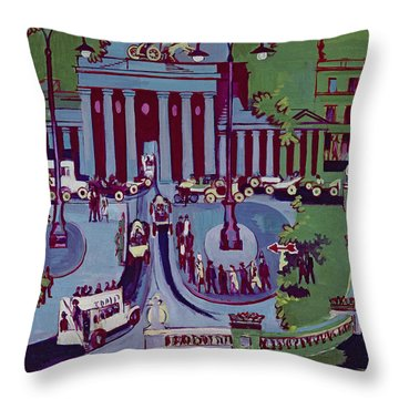 The Brandenburg Gate Berlin Throw Pillow by Ernst Ludwig Kirchner