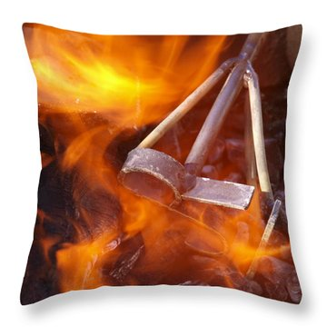 The Branding Fire Throw Pillow