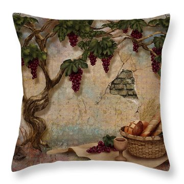 The Bread And The Vine Throw Pillow
