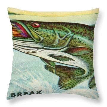 Throw Pillow featuring the digital art The Break by Cathy Anderson