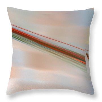 The Break Throw Pillow by Victoria Harrington
