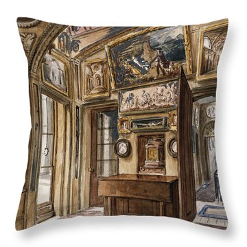 The Breakfast Room Throw Pillow by Charles James Richardson