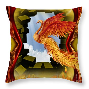 The Breakthrough - Surreal Art By Giada Rossi  Throw Pillow