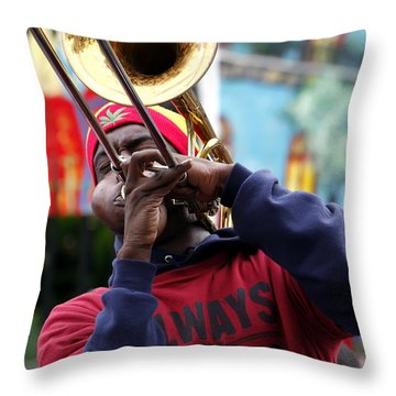 The Breath Of Jazz Throw Pillow