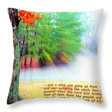 The Breath Of Life Throw Pillow by Pamela Hyde Wilson