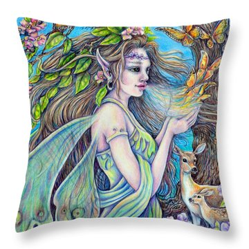 The Breath Of Spring Throw Pillow by Gail Butler