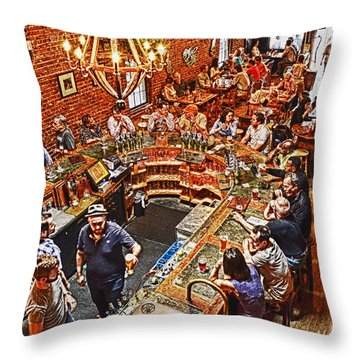 The Brick Store Pub Throw Pillow