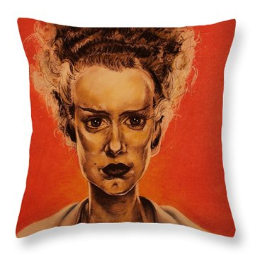 The Bride Of Frankenstein Throw Pillow