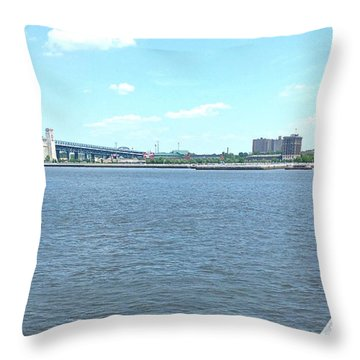 The Bridge And The River Throw Pillow
