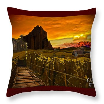 The Bridge Throw Pillow by Gerry Robins